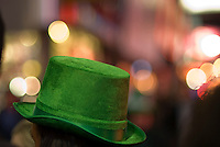 Revelers flock to Times Square in New York on Tuesday, March 17, 2009 after the St. Patrick's Day parade. (© Richard B. Levine)