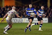 Matt Banahan of Bath Rugby in possession. Aviva Premiership match, between Bath Rugby and Exeter Chiefs on March 23, 2018 at the Recreation Ground in Bath, England. Photo by: Patrick Khachfe / Onside Images