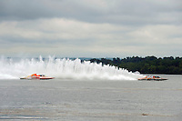 "Marty Wofe, GP-93 ""Renegade"", Bert Henderson, GP-77 ""Steeler"", Grand Prix class hydroplane(s).Syracuse Hydrofest, Onondaga Lake, Syracuse, NY.20/21 June, 2009, Dayton, OH USA..©F. Peirce Williams 2009 USA.F.Peirce Williams.photography.ref: RAW (.NEF) File Available"