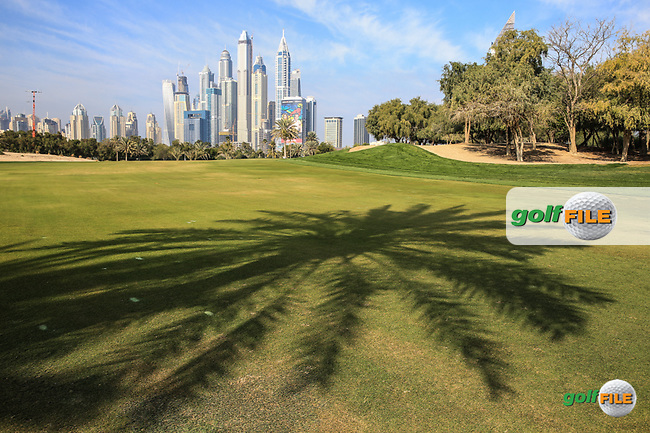 13th fairway during the Pro-Am at the 2016 Omega Dubai Desert Classic, played on the Emirates Golf Club, Dubai, United Arab Emirates.  03/02/2016. Picture: Golffile | David Lloyd<br /> <br /> All photos usage must carry mandatory copyright credit (&copy; Golffile | David Lloyd)