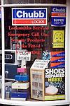 Locksmith shop window display