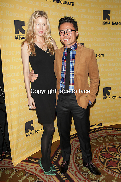 NEW YORK, NY - NOVEMBER 6, 2013: Danushka Lysek and Viet Pham attend the 2013 International Rescue Committee Freedom Award Benefit at The Waldorf Astoria on November 6, 2013 in New York City. <br />