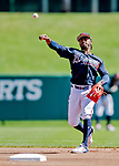 25 February 2019: Atlanta Braves infielder Ozzie Albies warms up prior to a pre-season Spring Training game against the Washington Nationals at Champion Stadium in the ESPN Wide World of Sports Complex in Kissimmee, Florida. The Braves defeated the Nationals 9-4 in Grapefruit League play in what will be their last season at the Disney / ESPN Wide World of Sports complex. Mandatory Credit: Ed Wolfstein Photo *** RAW (NEF) Image File Available ***