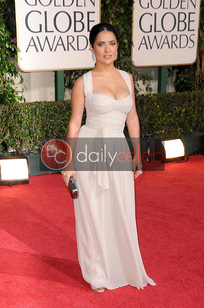 Salma Hayek<br />at the 66th Annual Golden Globe Awards. Beverly Hilton Hotel, Beverly Hills, CA. 01-11-09<br />Dave Edwards/DailyCeleb.com 818-249-4998