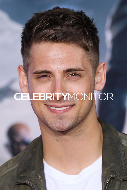 "HOLLYWOOD, LOS ANGELES, CA, USA - MARCH 13: Jean-Luc Bilodeau at the World Premiere Of Marvel's ""Captain America: The Winter Soldier"" held at the El Capitan Theatre on March 13, 2014 in Hollywood, Los Angeles, California, United States. (Photo by Xavier Collin/Celebrity Monitor)"