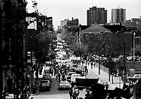 May 28, 1983 file photo - Montreal, Quebec, CANADA - walk for employement (Marche pour l'emploi) in the street of Montreal.