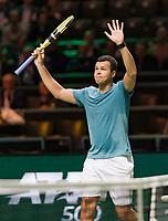 Rotterdam, The Netherlands, 13 Februari 2019, ABNAMRO World Tennis Tournament, Ahoy,  Jo-Wilfried Tsonga (FRA) <br /> Photo: www.tennisimages.com/Henk Koster