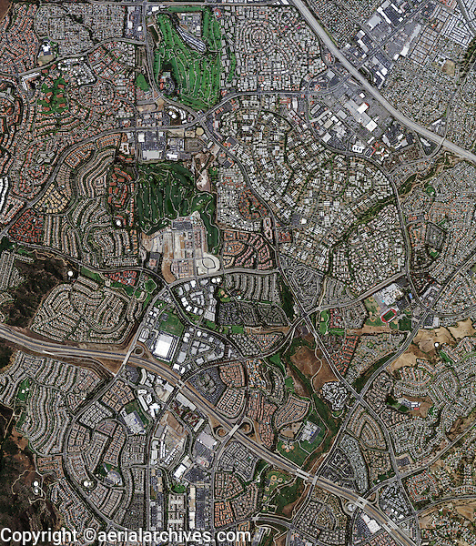 aerial map view above Laguna Hills Orange County California