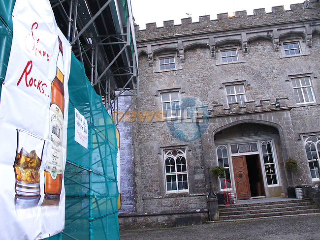 Slane Castle all ready for the KINGS OF LEON concert on Saturday,  peperations in the VIP area show large areas for relaxing in and the big Slane Rocks Whiskey stand..Picture: www.newsfile.ie .
