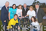 Launching the Ring of Kerry Cycle at Ross Castle Killarney on Thursday was l-r: Sean Scally Enable Ireland, Eilish O'Sullivan Kerry Rape and Sexual Abuse Centre. Back row: Cathal Walshe Ring of Kerry committee, Rosaleen Higgins Recovery Haven, Emer Corridon Kerry Stars, Brendan Coffey, Eileen Colette Killarney Wheelchair Association, Tony Darmody Kerry Parents and Friends
