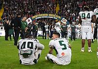 Unicorns haben verloren und sehen der Siegerehrung zu - 12.10.2019: German Bowl XLI Braunschweig Lions vs. Schwäbisch Hall Unicorns, Commerzbank Arena Frankfurt