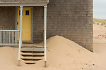 Sand Drifts cover the steps of the Coast Guard Station, Cape Cod National Seashore.
