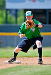 18 June 2010: Vermont Lake Monsters infielder Blake Kelso warms up prior to facing the Lowell Spinners at Centennial Field in Burlington, Vermont. The Lake Monsters defeated the Spinners 9-4 in the NY Penn League season home opener. Mandatory Credit: Ed Wolfstein Photo