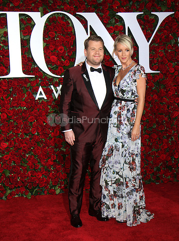 NEW YORK, NY-June 12: James Corden, Julia Carey at the 70th Annual Tony Awards at the Beacon Theatre in New York. NY June 12, 2016. Credit:RW/MediaPunch