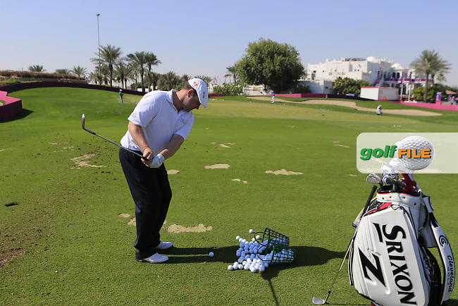 Chris DOAK (SCO) on the practice green after Thursday's Round 2 of the 2015 Commercial Bank Qatar Masters held at Doha Golf Club, Doha, Qatar.: Picture Eoin Clarke, www.golffile.ie: 1/22/2015