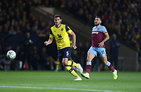 Oxford United's Elliott Moore and West Ham United's Robert Snodgrass<br /> <br /> Photographer Rob Newell/CameraSport<br /> <br /> The Carabao Cup Third Round - Oxford United v West Ham United - Wednesday 25th September 2019 - Kassam Stadium - Oxford<br />  <br /> World Copyright © 2019 CameraSport. All rights reserved. 43 Linden Ave. Countesthorpe. Leicester. England. LE8 5PG - Tel: +44 (0) 116 277 4147 - admin@camerasport.com - www.camerasport.com