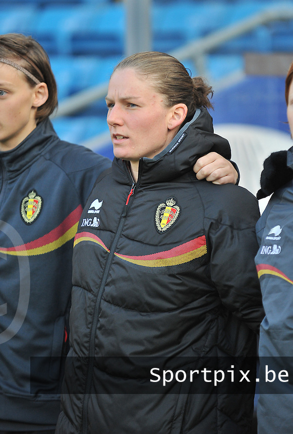 20130925 - OSLO , NORWAY : Belgian Sofie Van Houtven pictured during the female soccer match between Norway and Belgium , on the second matchday in group 5 of the UEFA qualifying round to the FIFA Women World Cup in Canada 2015 at the Ullevaal Stadion , Oslo . Wednesday 25th September 2013. PHOTO DAVID CATRY