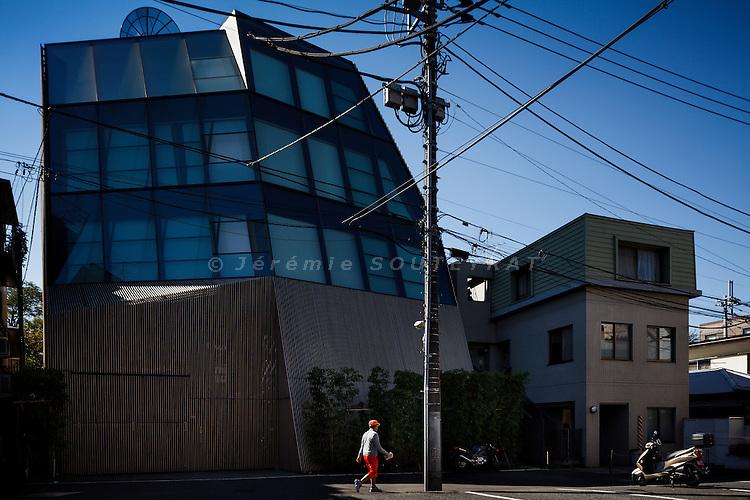 Tokyo, November 3 2010 - Wood/Berg by Kengo Kuma.