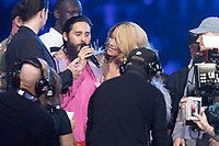 Rita Ora presents an award to Jared Leto during the show of the 2017 MTV Europe Music Awards, EMAs, at SSE Arena, Wembley, in London, Great Britain, on 12 November 2017. Photo: Hubert Boesl <br />