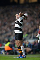 16th November 2019; Twickenham, London, England; International Rugby, Barbarians versus Fiji; Rory Best of Barbarians takes a line out - Editorial Use