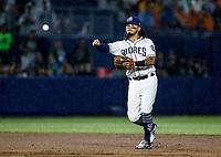 Freddy Galvis de San Diego, durante el partido de beisbol de los Dodgers de Los Angeles contra Padres de San Diego, durante el primer juego de la serie las Ligas Mayores del Beisbol en Monterrey, Mexico el 4 de Mayo 2018.<br /> (Photo: Luis Gutierrez)