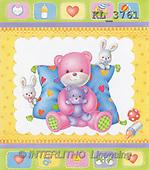 Interlitho, Lorella, BABIES, paintings, pink bear, symbols(KL3761,#B#)