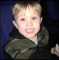 BNPS.co.uk (01202)558833<br /> Pic: YasminDougan/BNPS<br /> <br /> Tragic Jaiden Mangan (3).<br /> <br /> <br /> A 'frustrated' lorry driver mowed down and killed a young boy because he had been distracted by 'sarcastically clapping' another motorist to see lights change, a court heard.<br /> <br /> Dean Phoenix did not notice the red light at a pedestrian crossing that allowed three-year-old Jaiden Mangan to cross in front of him as he was 'swearing and gesticulating' at the time, it is alleged.<br /> <br /> The 44-year-old pulled away to drive around an illegally parked car that was blocking his path and struck Jaiden who was riding a balance bike.<br /> <br /> The youngster suffered severe head injuries and died later in hospital. <br /> <br /> Phoenix is on trial for causing death by dangerous driving.