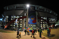 A general view of fans arriving at Ellis Park, Johannesburg