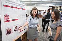 "Alexandra Filkins '16 presents ""Preliminary characterization of occipodins, natural anticoagulants from Elthusa and P. cinncinatus""<br /> Occidental College's Undergraduate Research Center hosts their annual Summer Research Conference on Aug. 4, 2016. Student researchers presented their work as either oral or poster presentations at the final conference. The program lasts 10 weeks and involves independent research in all departments.<br /> (Photo by Marc Campos, Occidental College Photographer)"