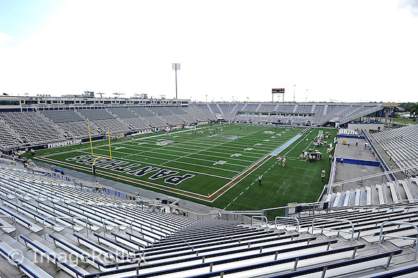 17 September 2011:  FIU's stadium prior to game time.  FIU notched a new attendance record of 20,205 at the game as the FIU Golden Panthers defeated the University of Central Florida Golden Knights, 17-10, at FIU Stadium in Miami, Florida.