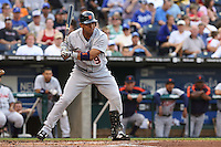 Detroit Tigers shortstop Carlos Guillen in action against the Royals at Kauffman Stadium in Kansas City, Missouri on May 5, 2007.