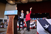 COCONUT CREEK, FL - OCTOBER 25: U.S. candidate Rep. Patrick Murphy (D-PA) (R) greets supporters with Democratic presidential nominee former Secretary of State Hillary Clinton at her rally to highlight the start of in-person early voting at Omni Auditorium, Broward College North Campus on October 25, 2016 in Coconut Creek, Florida. With two weeks to go until Election Day, Clinton will urge Florida voters to take advantage of in-person early voting, which begins in many Florida counties.  Credit: MPI10 / MediaPunch