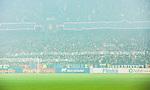 Stockholm 2015-05-25 Fotboll Allsvenskan Djurg&aring;rdens IF - AIK :  <br /> Djurg&aring;rdens supportrar med banderoller inf&ouml;r den andra halvleken under matchen mellan Djurg&aring;rdens IF och AIK <br /> (Foto: Kenta J&ouml;nsson) Nyckelord: Fotboll Allsvenskan Djurg&aring;rden DIF Tele2 Arena AIK Gnaget supporter fans publik supporters