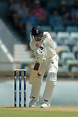 November 4th 2017, WACA Ground, Perth Australia; International cricket tour, Western Australia versus England, day 1; James Vince plays a forward defensive shot during his innings of 82