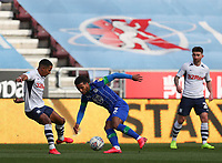 8th February 2020; DW Stadium, Wigan, Greater Manchester, Lancashire, England; English Championship Football, Wigan Athletic versus Preston North End; Nathan Byrne of Wigan Athletic takes on Scott Sinclair of Preston North End