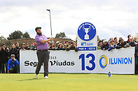 Andrew Johnston (ENG) on the 13th tee during Round 2 of the Open de Espana 2018 at Centro Nacional de Golf on Friday 13th April 2018.<br /> Picture:  Thos Caffrey / www.golffile.ie<br /> <br /> All photo usage must carry mandatory copyright credit (&copy; Golffile | Thos Caffrey)