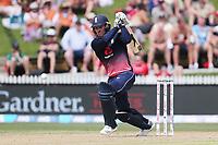 England's Jason Roy batting. New Zealand Blackcaps v England. One Day International Cricket. Seddon Park, Hamilton, New Zealand on Sunday 25 February 2018.<br /> <br /> Copyright photo: &copy; Bruce Lim / www.photosport.nz