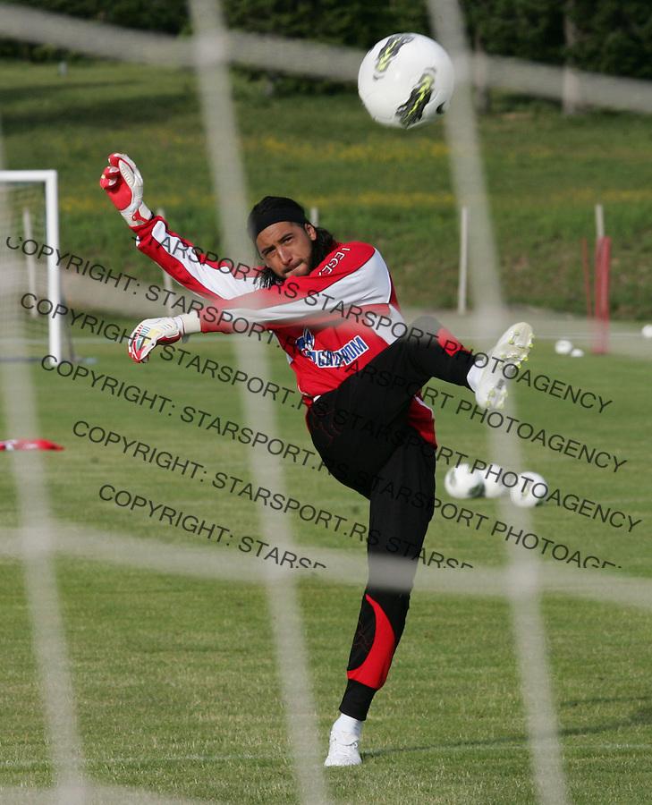 Fudbal season 2012-2013.FK Crvena Zvezda pripreme Rogla.Goalkeeper Boban Bajkovic.Rogla, 23.06.2012..foto: Srdjan Stevanovic/Starsportphoto ©