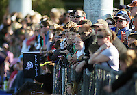 Spectators watch the match during the international hockey match between the New Zealand Black Sticks and Malaysia at Fitzherbert Park, Palmerston North, New Zealand on Sunday, 9 August 2009. Photo: Dave Lintott / lintottphoto.co.nz