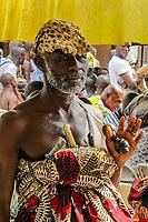 Africa, Ghana, Kumasi Ashanti King Otunfuoosu II royal dignitary