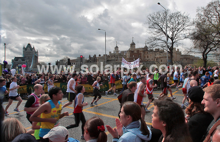 **ALL ROUND PICTURES FROM SOLARPIX.COM**.**NO UK NEWSPAPER PUBLICATION **UK MAGAZINE & SUPPLEMENT PUBLICATION ONLY** AND NO PUBLICATION IN FRANCE, SCANDINAVIA, AUSTRALIA AND GERMANY** .The London Marathon in central London today. London, UK. 13th April 2008..JOB REF:6131 SFE       DATE: 13_04_2008.**MUST CREDIT SOLARPIX.COM OR DOUBLE FEE WILL BE CHARGED* *UNDER NO CIRCUMSTANCES IS THIS IMAGE TO BE REPRODUCED FOR ANY ONLINE EDITION WITHOUT PRIOR PERMISSION*