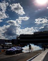 Sep 18, 2016; Concord, NC, USA; NHRA pro stock driver Jason Line during the Carolina Nationals at zMax Dragway. Mandatory Credit: Mark J. Rebilas-USA TODAY Sports