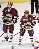 Mike Brennan, Stephen Gionta - The Boston College Eagles defeated the Miami University Redhawks 5-0 in their Northeast Regional Semi-Final matchup on Friday, March 24, 2006, at the DCU Center in Worcester, MA.