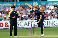 Paul Walter in bowling action for Essex during Essex Eagles vs Surrey, NatWest T20 Blast Cricket at The Cloudfm County Ground on 7th July 2017