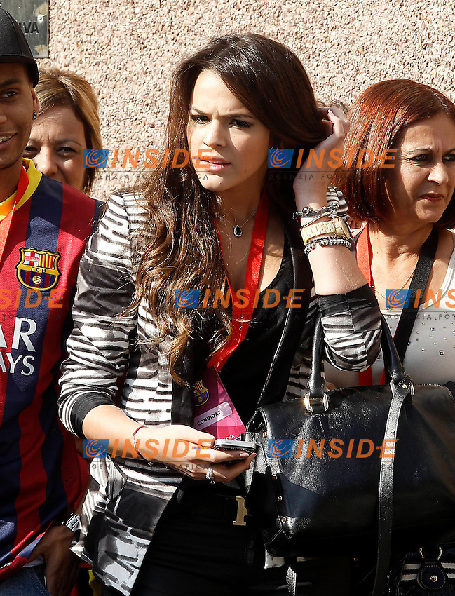 FC Barcelona's new player Neymar Da Silva's girlfriend Bruna Marquezine. June 03,2013. (ALTERPHOTOS/Acero) <br /> Barcellona 3/6/2013 <br /> Football Calcio 2013/2014 La Liga Spagna<br /> Presentazione<br /> Foto Alterphotos / Insidefoto <br /> ITALY ONLY