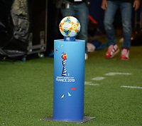 20190607 - PARIS , FRANCE : the official FWWC Adidas Ball pictured during the female soccer game between France – Les Bleues  and Korea Republic, the opening game and first game for both teams in group A during the FIFA Women's  World Championship in France 2019, Friday 7 th June 2019 at the Parc des Princes Stadium in Paris , France .  PHOTO SPORTPIX.BE | DAVID CATRY