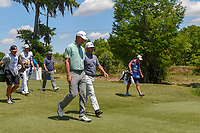 Lucas Glover (USA) and Chez Reavie (USA) head down 2 during Round 2 of the Zurich Classic of New Orl, TPC Louisiana, Avondale, Louisiana, USA. 4/27/2018.<br /> Picture: Golffile | Ken Murray<br /> <br /> <br /> All photo usage must carry mandatory copyright credit (&copy; Golffile | Ken Murray)