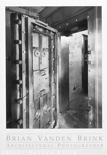 PLUTONIUM STORAGE VAULT<br /> ABANDONED NUCLEAR WEAPONS<br /> STORAGE FACILITY<br /> Loring Air Force Base<br /> Limestone, Maine &copy; Brian Vanden Brink, 2000
