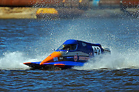 Frame 13: #42 rides up and over the roostertail of leader R.J. West, (#93) during the final heat.   (SST-45 class)