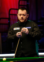26th February 2020; Waterfront, Southport, Merseyside, England; World Snooker Championship, Coral Players Championship; Mark Allen (ENG) prepares to play his shot during his first round match against Thepchaiya Un-Nooh (THA)
